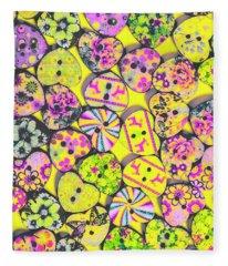 Flower Power Patterns Fleece Blanket