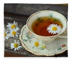 Flower Tea Fleece Blanket