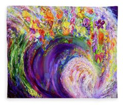 Flower Wave Fleece Blanket