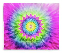 Flowering Mandala Fleece Blanket
