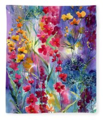 Flowers Fairy Tale Fleece Blanket