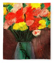 Flowers Still Life Fleece Blanket