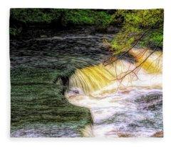 Flowing Water. Fleece Blanket