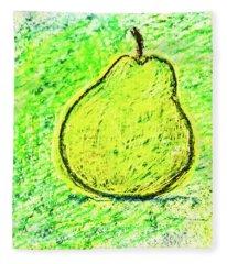 Fluorescent Pear Fleece Blanket