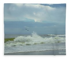 Fly Above The Surf Fleece Blanket