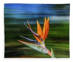 Flying Bird Of Paradise Fleece Blanket