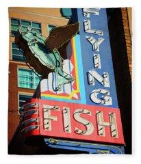 Flying Fish Fleece Blanket