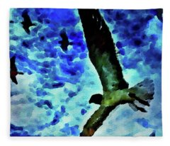 Flying Seagulls Fleece Blanket