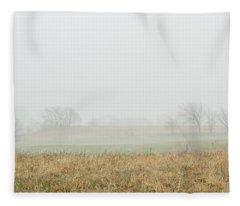 Foggy Country Morning Fleece Blanket