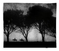 Foggy Morning Ride Fleece Blanket