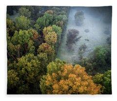 Foggy Opening Fleece Blanket