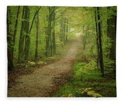 Foggy Path Fleece Blanket