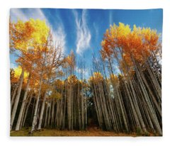 Follow The Yellow Leaf Road Fleece Blanket