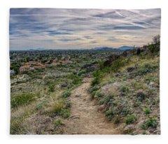 Following The Desert Path Fleece Blanket