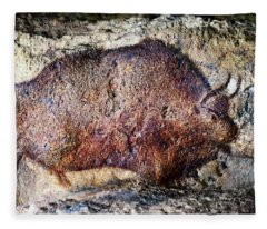 Font De Gaume Bison Fleece Blanket