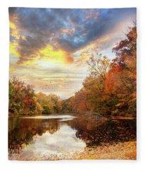 For The Love Of Autumn Fleece Blanket