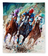 Horse Race Fleece Blankets