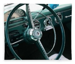 1955 Ford Fairlane Steering Wheel Fleece Blanket