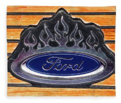 Ford Fire Fleece Blanket