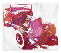 Ford Flathead Roadster Two Pop Fleece Blanket