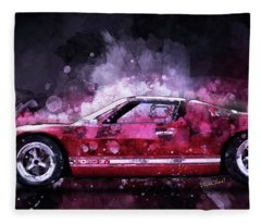 Ford Gt 40 Night Moves Fleece Blanket