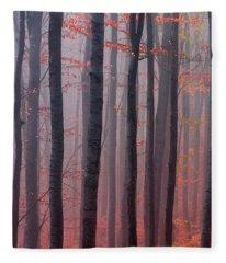 Forest Barcode Fleece Blanket