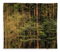 Forest Dogwood Fleece Blanket