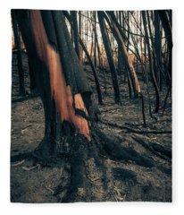 Forest Fire Fleece Blanket
