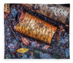 Forest Floor In Autumn Fleece Blanket