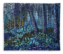 Forest In Colour Series 4 Fleece Blanket