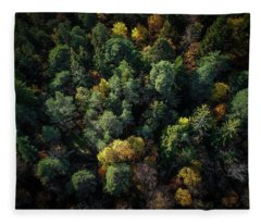 Forest Landscape - Aerial Photography Fleece Blanket