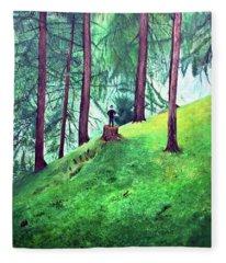 Forest Through The Trees Fleece Blanket