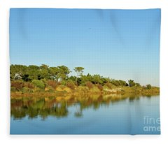 Forests Mirror Fleece Blanket