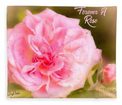 Forever A Rose  Fleece Blanket