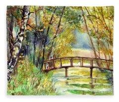 Forgotten Bridge Fleece Blanket