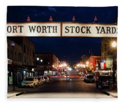 Fort Worth Stock Yards 112318 Fleece Blanket