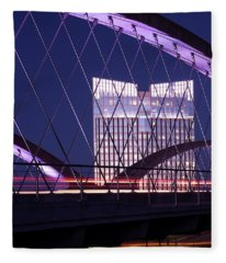 Fort Worth West Seventh Street Bridge V2 021419 Fleece Blanket