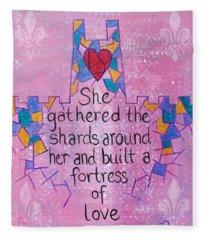 Fortress Of Love Fleece Blanket
