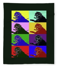 Foster Dog Pop Art Fleece Blanket