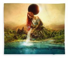 Fountain Of Eternity Fleece Blanket