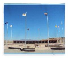 Four Corners Monument Fleece Blanket