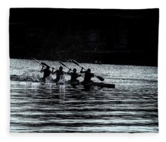 Four Rowers Fleece Blanket