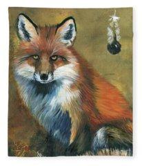 Fox Shows The Way Fleece Blanket