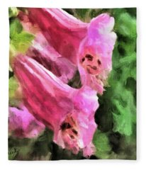 Foxglove Fleece Blanket