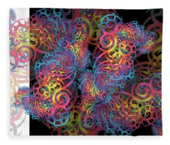 Fractal Illusion Fleece Blanket