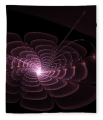 Fractal Rose Fleece Blanket