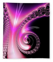 Fleece Blanket featuring the photograph Fractal Spiral Pink Purple And Black by Matthias Hauser