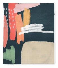 Fragments 2- Art By Linda Woods Fleece Blanket