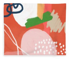 Fragments 4- Art By Linda Woods Fleece Blanket