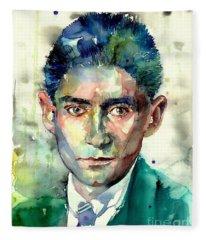Franz Kafka Portrait Fleece Blanket